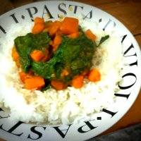 Sweet Potato Saag Curry